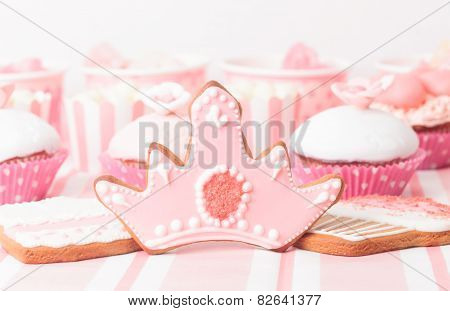 dessert table at girls party