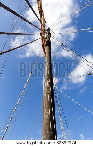 Details Of An Old Sailing Boat