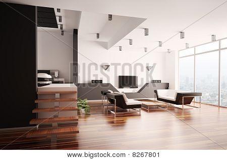 Modern Apartment Interior 3D