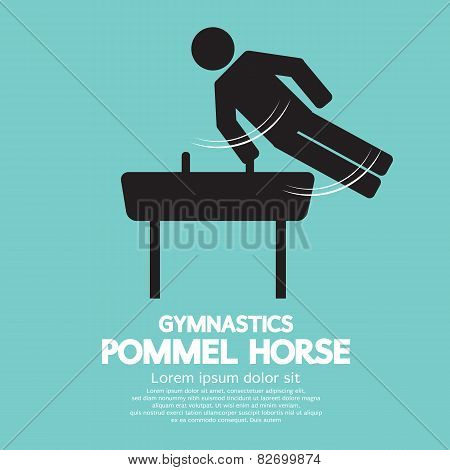 Pommel Horse Gymnastics.