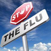 flu vaccination shot stop the virus vaccine for immunization poster