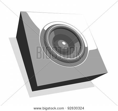 Sound-system Illustration In Shades Of Gray