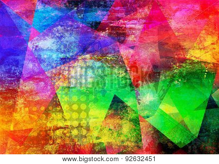 Abstract Multicolor Layer Artwork