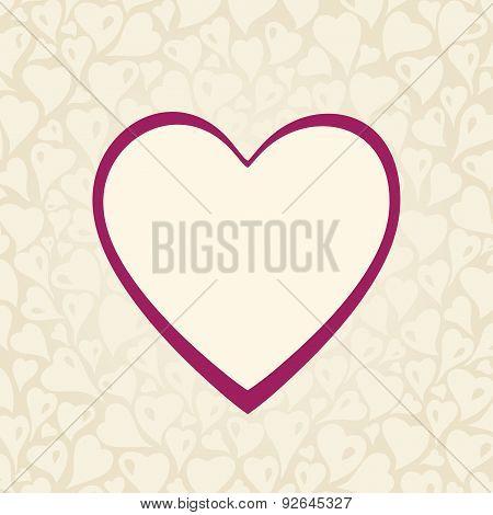 Wedding Ecru invitation design with red heart