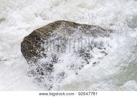 Water Hitting Rock