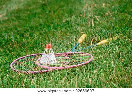 Photo of a badminton racquet
