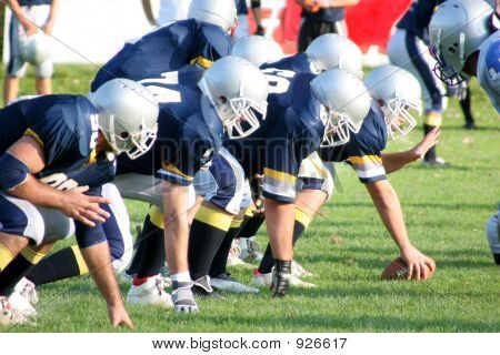 details football players offense – defense in action poster