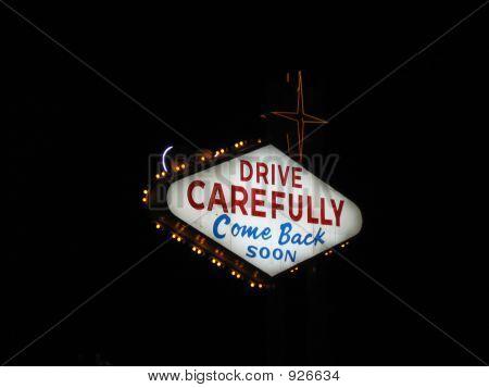 Back Of Las Vegas Sign At Night