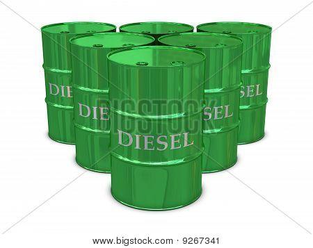 Diesel barrels