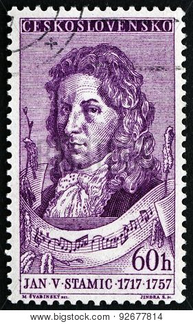 Postage Stamp Czechoslovakia 1957 Jan Vaclav Stamic, Czech Composer