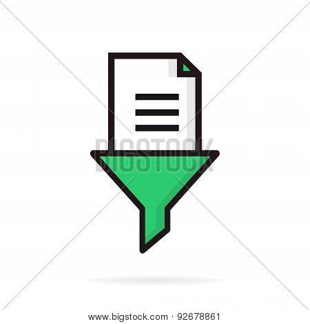 Document funnel or filter logo