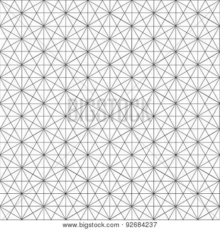 GEOMETRIC LINE PATTERN BACKGROUND. Seamless modern style texture. Repeating vector illustrator file. Tiles with rhombuses and triangles.