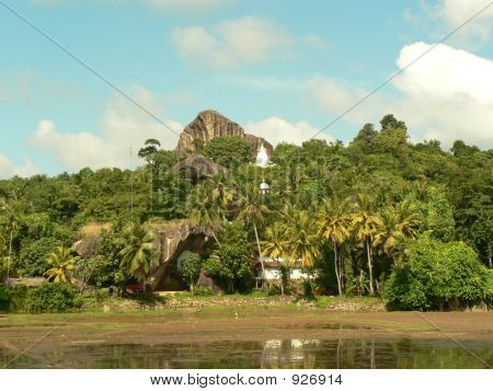 View Of An Ancient Temple In Sri Lanka