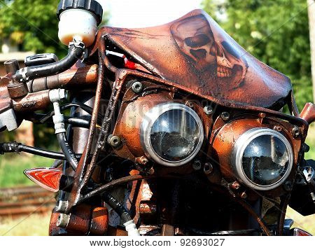 Detail on motorcycle
