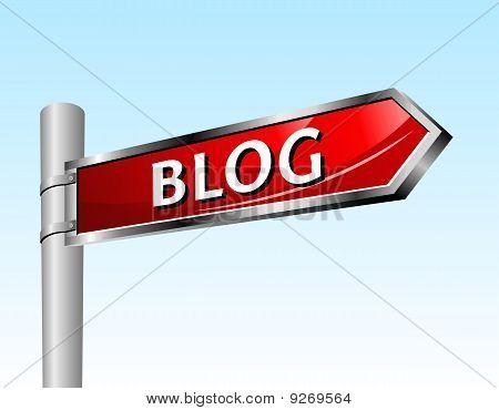 Arrow Road Sign Blog