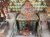 place of worship, hinduist temple in Kathmandu, Nepal poster