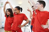 Group Of Children Enjoying Drama Class Together poster