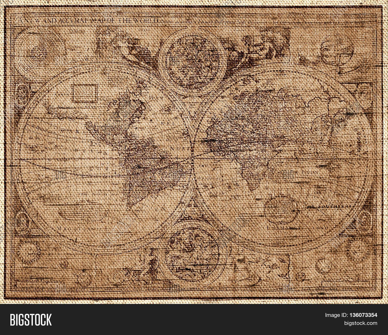 Sepia Toned World Map Image Photo Free Trial Bigstock - World map sepia toned
