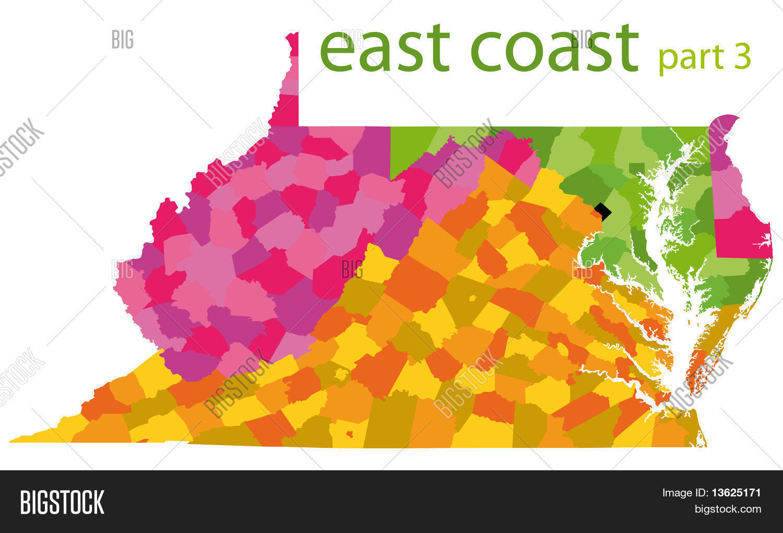 Usa East Coast Map Image & Photo (Free Trial) | Bigstock
