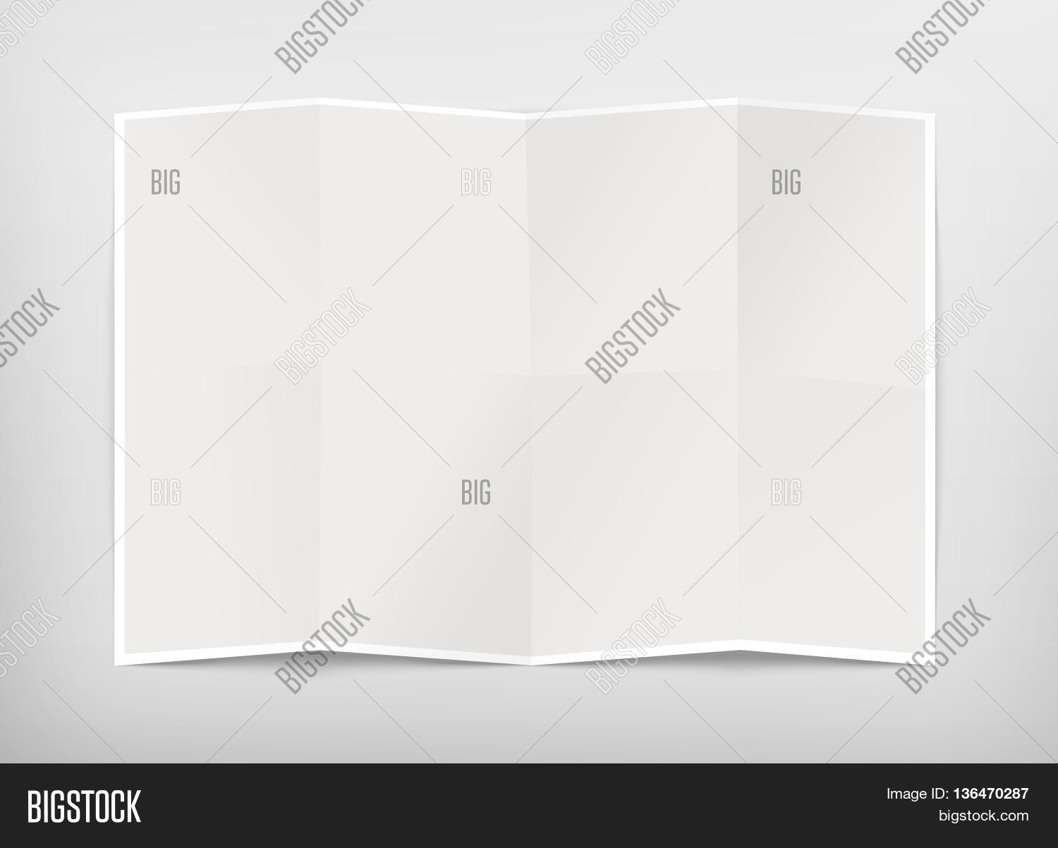 blank chart. Blank Chart Design Mockup Isolated Clipping Path 3d Illustration. Folded Map Template Mock Up Display