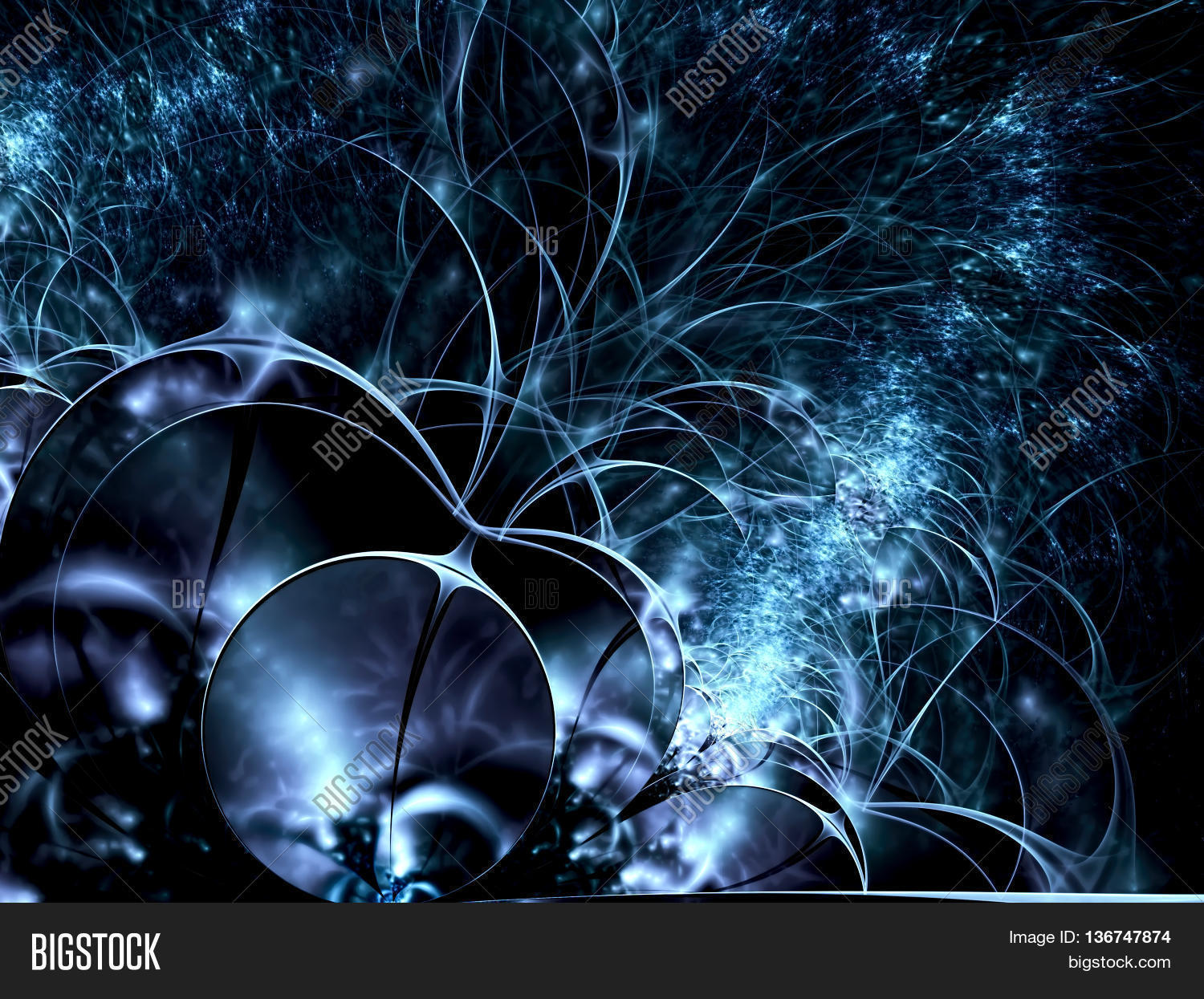 Abstract Chaos Dark Blue Background