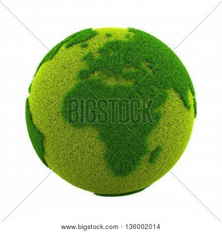 Grass World Planet, Europe And Africa