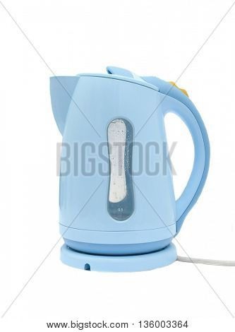 Electric water kettle on white background
