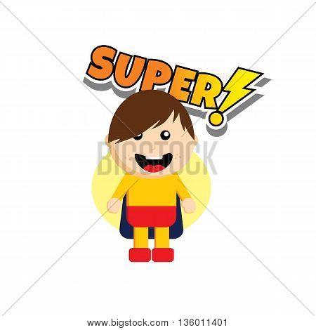 Flat Style Superhero Character