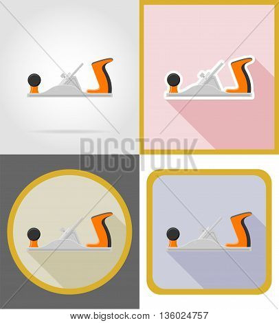jointer repair and building tools flat icons vector illustration isolated on white background