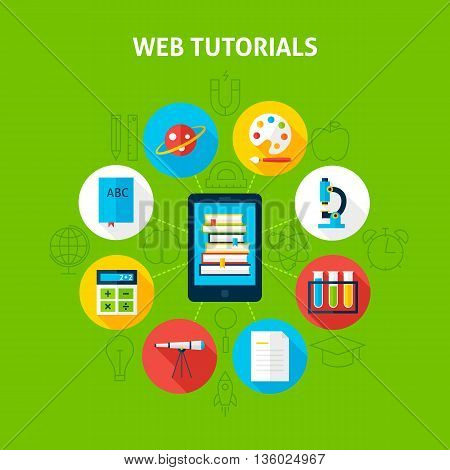 Web Tutorials Infographic Concept