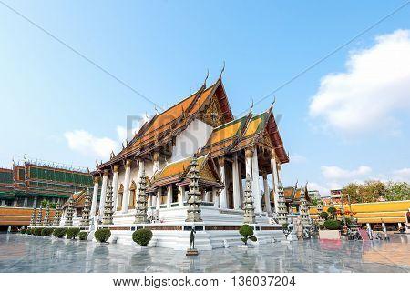 Wat Suthat Thep wararam Bangkok Thailand ..