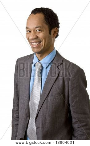 Smiling business man portrait isolated