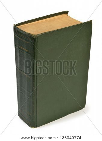 Old hardcover book isolated on white vertical