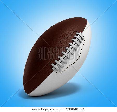 American Football Ball 3D Render Isolated On Gradient Background