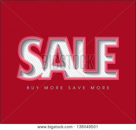 Sale concept vector 3D Paper banner. sale layout design. Vector illustration