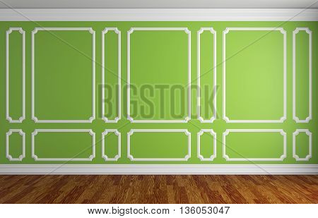 Green Wall In Classic Style Room