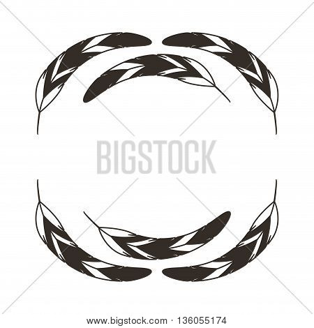 feathers wreath isolated icon design, vector illustration  graphic