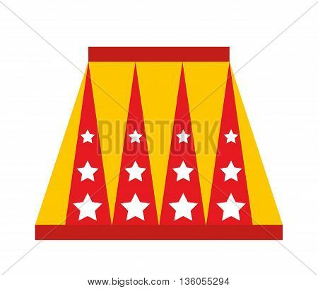 animal circus podium isolated icon design, vector illustration  graphic