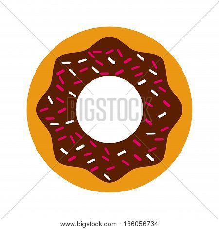 delicious donut isolated icon design, vector illustration  graphic