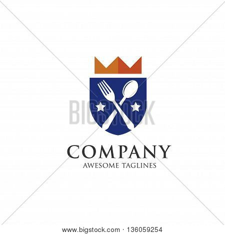 Gourmet logo. king food. Lovely food logo . templateTemplate logo for restaurant