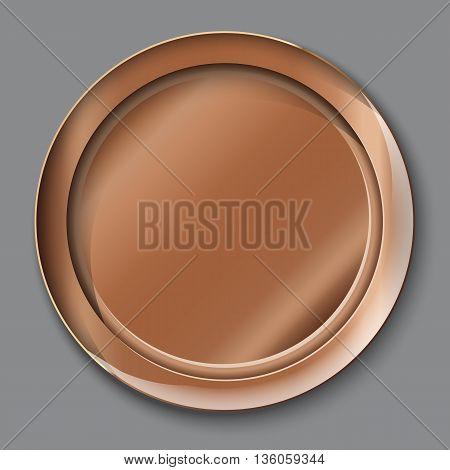 Vector Illustration Of Empty Copper Plate