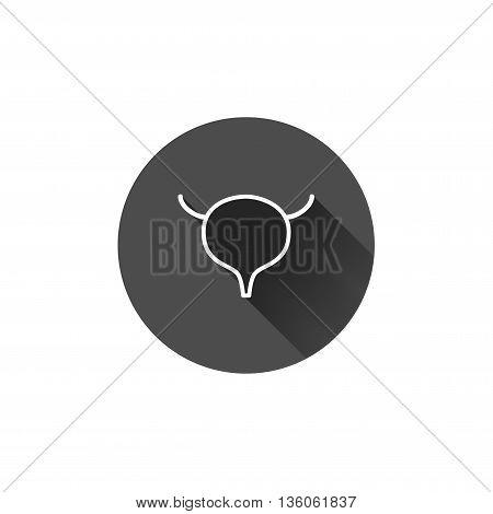 Vector bladder icon. Abstract internal organs hyman anatomy