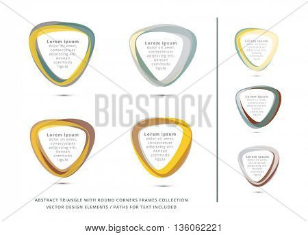 COLORFUL TRIANGLE FRAMES COLLECTION / VECTOR DESIGN ELEMENTS , METALLIC COLORS