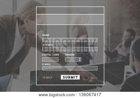 Register Registration Signup Login concpet