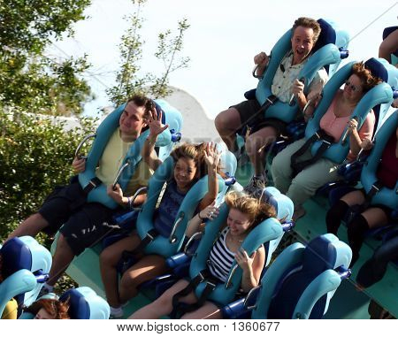 Famille sur Rollercoaster