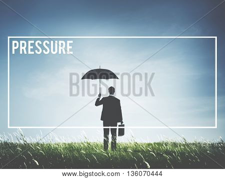 Pressure Stress Pushing Anxiety Physical Force Concept
