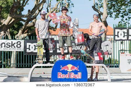 Amateur Skateboarders Podium