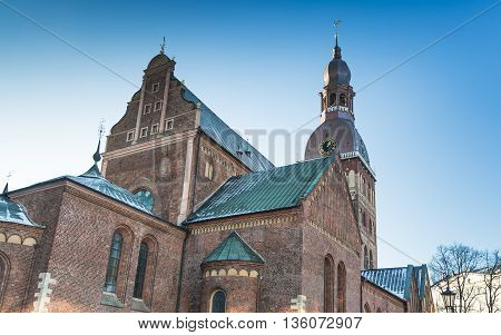 The Famous Dome Cathedral in Riga, Latvia