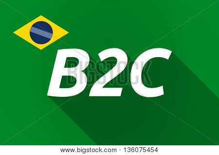 Long Shadow Brazil Flag With    The Text B2C