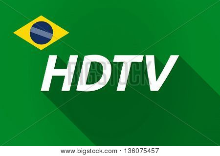 Long Shadow Brazil Flag With    The Text Hdtv